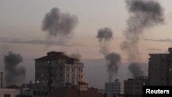 Газа пасьля лістападаўскага авіяўраду