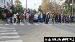Protest radnika, Tuzla, 15. oktobar 2014.