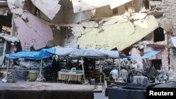 Një pjesë e qytetit të Alepos