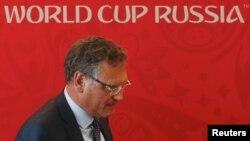 Жером Вальк на прес-конференції в Самарі, 10 червня 2015 року
