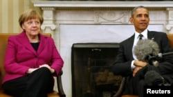 АКШ президенти Барак Обама менен Германиянын канцлери Ангела Меркел. Вашингтон, 9-февраль