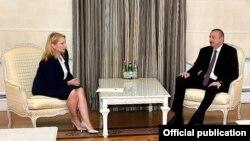 Натия Турнава и Ильхам Алиев на встрече в Баку, 18 сентября 2019 г.