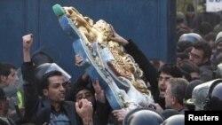 Протести - британска амбасада во Техеран