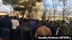 Протесты в Сиязаньском районе Азербайджана. 13 января 2016 года.