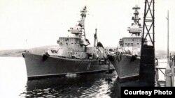 """Эсминцы """"Бывалый"""" и """"Оживлённый """" на военной базе. 1961 год."""