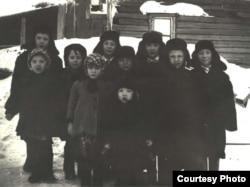 Дети спецпоселенцев Уcть-Енисейский район 1950е годы