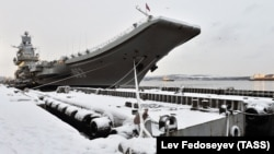 The Admiral Kuznetsov in Murmansk in December 2017