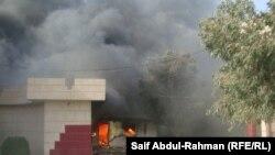 مجلس محافظة واسط يتعرض لحريق إثر هجوم لمحتجين في 16/2/2011