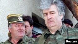 Ratko Mladić i Radovan Karadžić, april 1995