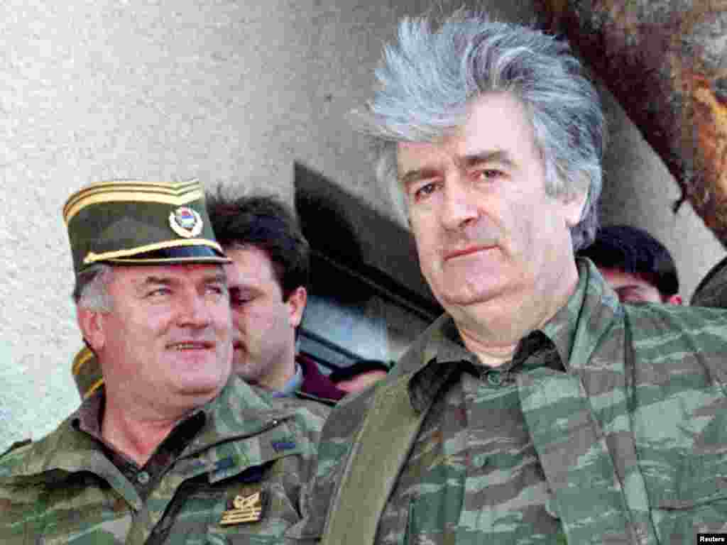 Ратко Младич һәм Радован Караджич, апрель 1993