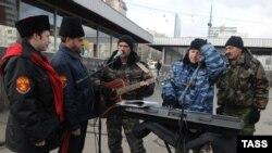 Мәскәүдә казаклардан торган дружиналар тәртип саклый