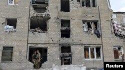 Будинок у селі Піски під Донецьком, зруйнований обстрілами спільних російсько-сепаратистських сил, архівне фото