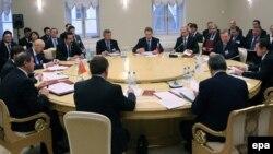 Заседание премьер-министров стран Таможенного союза. Санкт-Петербург, 11 декабря 2009 года.