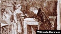 Kierkegaard qəhvəxanada, 1843-cü ilin rəsmi