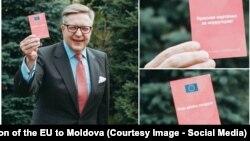 Глава делегации ЕС Пиркка Тапиола на презентации кампании «Красная карточка за коррупцию»