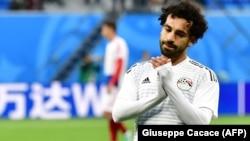 Mohamed Salah Rusiyada keçirilmiş Dünya Kuboku oyunlarından biri zamanı