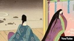 """""""Genji'nin hekayəsi"""" romanına illüstrasiya"""