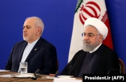 Mohammad Javad Zarif (left) with Iranian President Hassan Rohani, whose second and final term of office is coming to an end later this year.