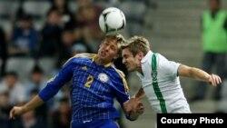 Матч между сборными Казахстана и Ирландии в Астане. 7 сентября 2012 года.