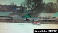 Паводки в селе Прибрежном близ города Петропавловска. 27 апреля 2017 года.