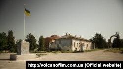 Український прапор замість статуї Леніна