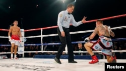 Monaco-Boxer Gennady Golovkin (Kazakhstan) and Martin Murray (Great Britain) - 22Feb2015