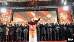 Архивска фотографија: Никола Груевски на предизборен митинг во Охрид.