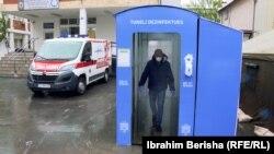 Tunel za dezinfekciju u Prištini, ilustracija