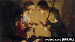 Хендрык Цербруген. Ісаў прадае права першародзтва за сачэўную поліўку. 1627