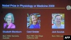 АКШлык 3 илимпозго медицина боюнча Нобел сыйлыгы ыйгарылды. Нобель комитетинин сайтынан. 5-октябрь, 2009-ж.
