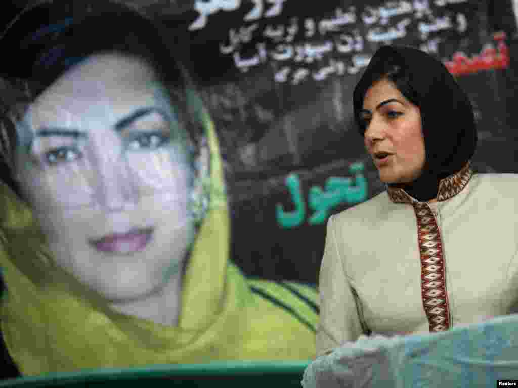 Sixty-eight of the 249 seats are reserved for women. On the campaign trail, Nima Suratgar, a parliamentary candidate, meets with a group of teachers in Kabul.