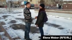 Случайная встреча Евгения Танкова с бывшим заключенным. Караганда, 5 ноября 2016 года.