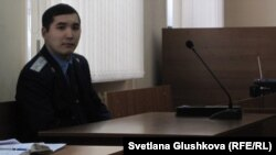 Олжас Шалабаев, помощник прокурора. Астана, 13 февраля 2014 года.