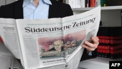 """Первая страница немецкой газеты Sueddeutsche Zeitung за 7 апреля 2016 года, посвященная """"Панамскому досье"""""""