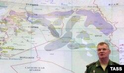 Представитель минобороны России Игорь Конашенков рассказывает об авиаударах российских ВВС на территории Сирии. 1 октября