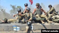 Units of Ukraine's naval forces' marine brigade drill in the Kherson and Zaporizhia regions in September.