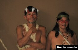 Мужчина и женщина народа уаорани