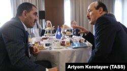 Глава Ингушетии Юнус-Бек Евкуров и глава Дагестана Рамазан Абдулатипов