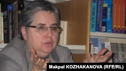 Марта Олкотт, американский историк и политолог. Алматы, март 2012 года.