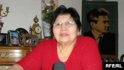 Қызғалдақ Жұбанова, Құдайберген Жұбановтың қызы. Алматы, 1 наурыз 2010 жыл.