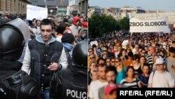Protesti u Sarajevu februara 2014. i Beogradu juna 2016.