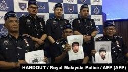 تصاویر دو مظنون منتشر شده در مالزی در روز ۲۳ ماه آوریل