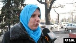 Палестинада тұратын қазақстандық әйел Әмина Блюз. Алматы, 23 қаңтар 2009 ж.