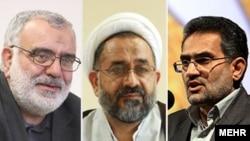 بر اساس گزارش های منتشره، نام محمد حسینی (راست) وزیر ارشاد، حیدر مصلحی (وسط) وزیر اطلاعات و مرتضی بختیاری، وزیر دادگستری در فهرست جدید تحریمی اتحادیه اروپا قرار دارد.