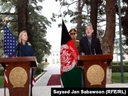 Совместная пресс-конференция Х.Клинтон и Х.Карзая в Кабуле