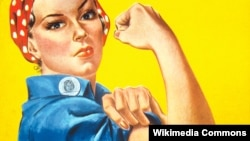 Фрагмент плаката Дж. Говарда Миллера We Can Do It!