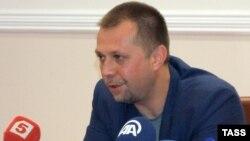 Александр Бородай дает пресс-конференцию в Донецке
