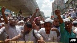 تظاهرات گروه اسلامگرای «حفاظت اسلام» در داکا