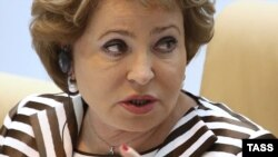 Valentina Matviyenko, speaker of Russia's upper house of parliament (file photo)