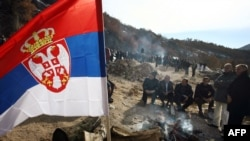 Kosovski Srbi protestuju na Jarinju, 4. decembar 2012.